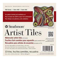 Strathmore Artist Tiles 6 Inch X6 Inch  10 Pack Watercolor