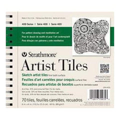 Strathmore Artist Tiles 6 Inch X6 Inch  70 Pack Recycled Sketch
