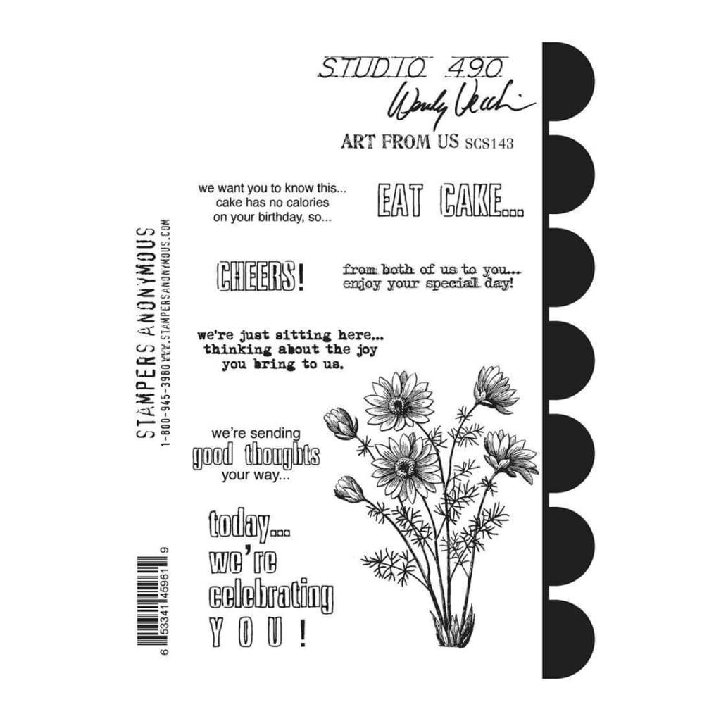 Studio 490 Cling Stamps 7inch X8.5inch Art From Us