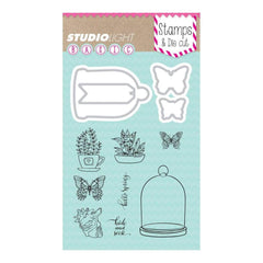 Studio Light Basic Stamp & Die Set - Hello Spring