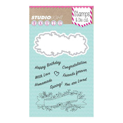 Studio Light Basic Stamp & Die Set - Sentiments
