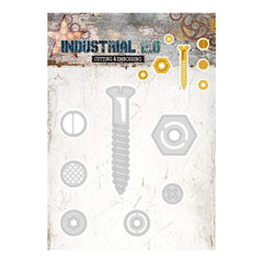 Studio Light Industrial 2.0 4.5 inch X8 inch Cutting & Embossing Die Nuts & Bolt