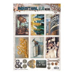 Studio Light Industrial 2.0 Easy 3D Punched Sheet A4 - #609 Industrial 2.0