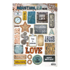 Studio Light Industrial 2.0 Easy 3D Punched Sheet A4 - #616 Industrial 2.0