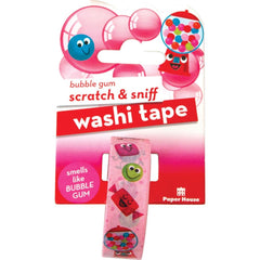 Paper House - Scratch & Sniff Washi Tape Bubble Gum, 15mmX8m