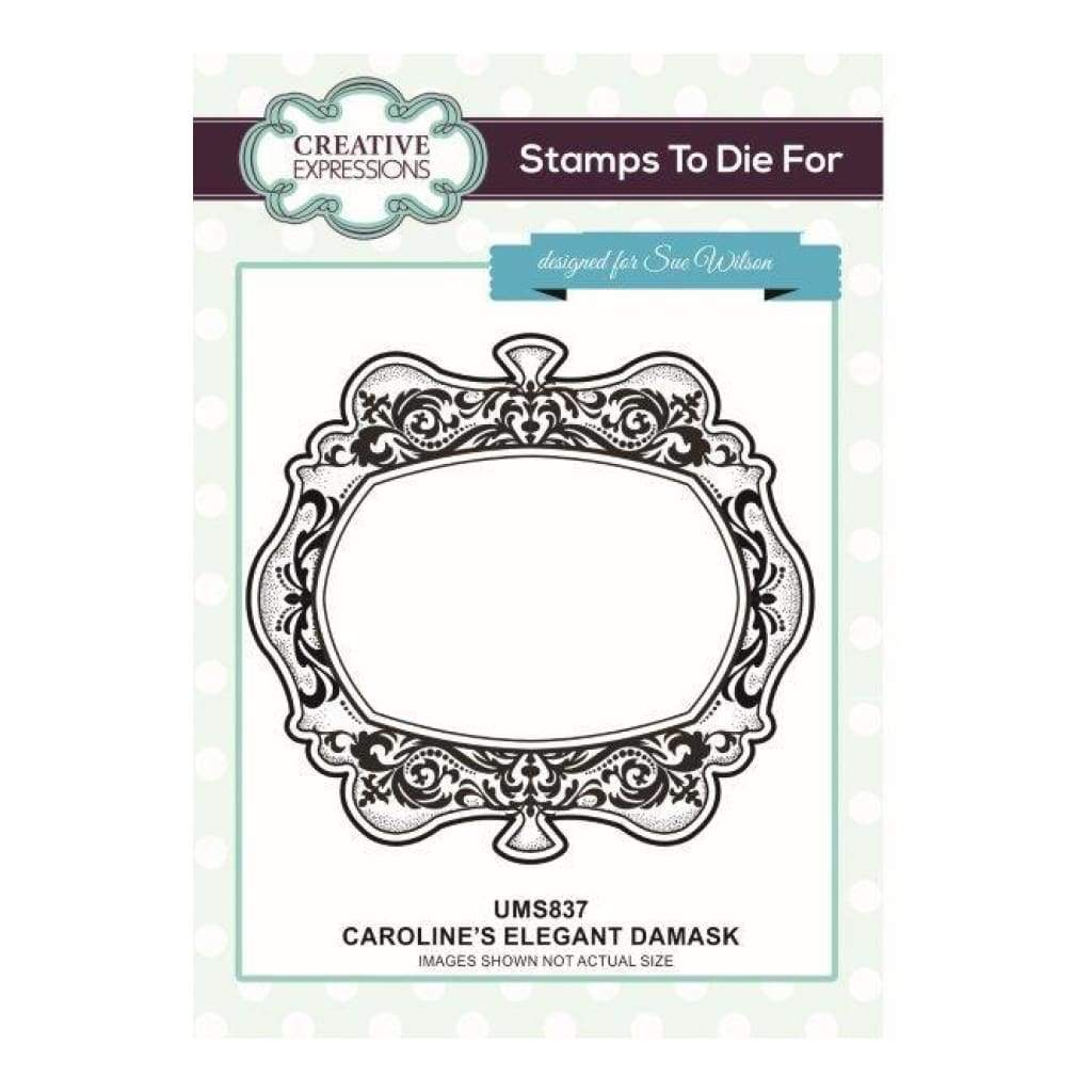 Sue Wilson Designs - Cling Mounted Stamp - Carolines Elegant Damask