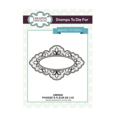 Sue Wilson Designs - Cling Mounted Stamp - Phoebes Fleur de Lys