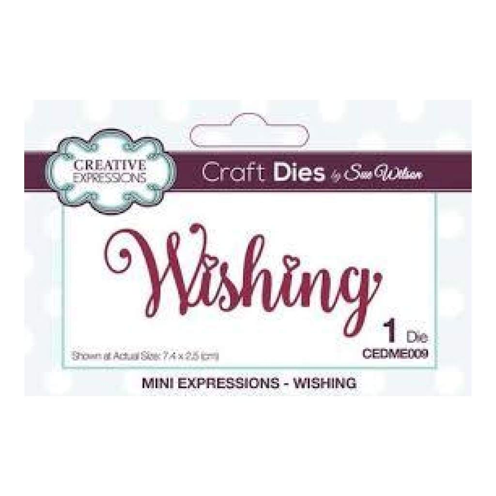 Sue Wilson Designs - Die - Mini Expressions - Wishing