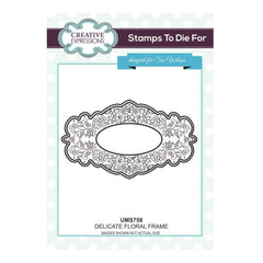 Sue Wilson Stamps To Die For - Delicate Floral Frame