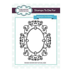 Sue Wilson Stamps To Die For - Looking Glass Pre Cut Stamp