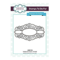 Sue Wilson Stamps To Die For - Ribbon Rose Frame