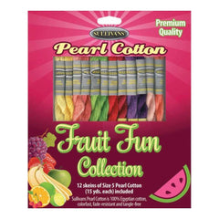 Sullivans Size 5 Pearl Cotton Pack 15yd 12 pack Fruit Fun