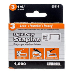 Surebonder Easy Tacker Staples 1/4 inch 1,000 pack