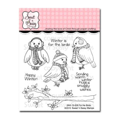 Sweet n Sassy Clear Stamps 4 inch X4 inch For The Birds