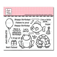 Sweet n Sassy Clear Stamps 4 inch X6 inch Birthday Pals