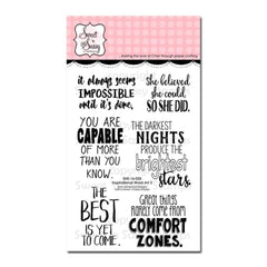 Sweet n Sassy Clear Stamps 4 inch X6 inch Inspirational Word Art 2