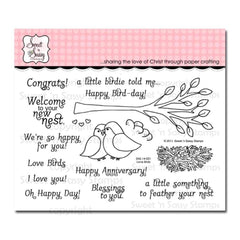 Sweet n Sassy Clear Stamps 4 inch X6 inch Love Birds