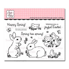 Sweet n Sassy Clear Stamps 4 inch X6 inch Springtime Babies