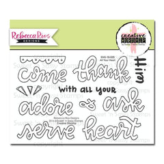 Sweet n Sassy Creative Worship Clear Stamps 4 inch X6 inch All Your Heart