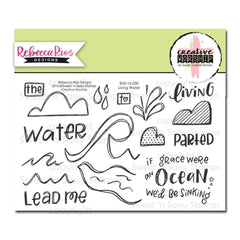 Sweet n Sassy Creative Worship Clear Stamps 4 inch X6 inch Living Water
