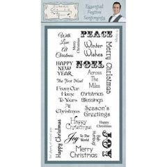 Creative Expressions - Essential Festive Sentiments Clear Stamp Set