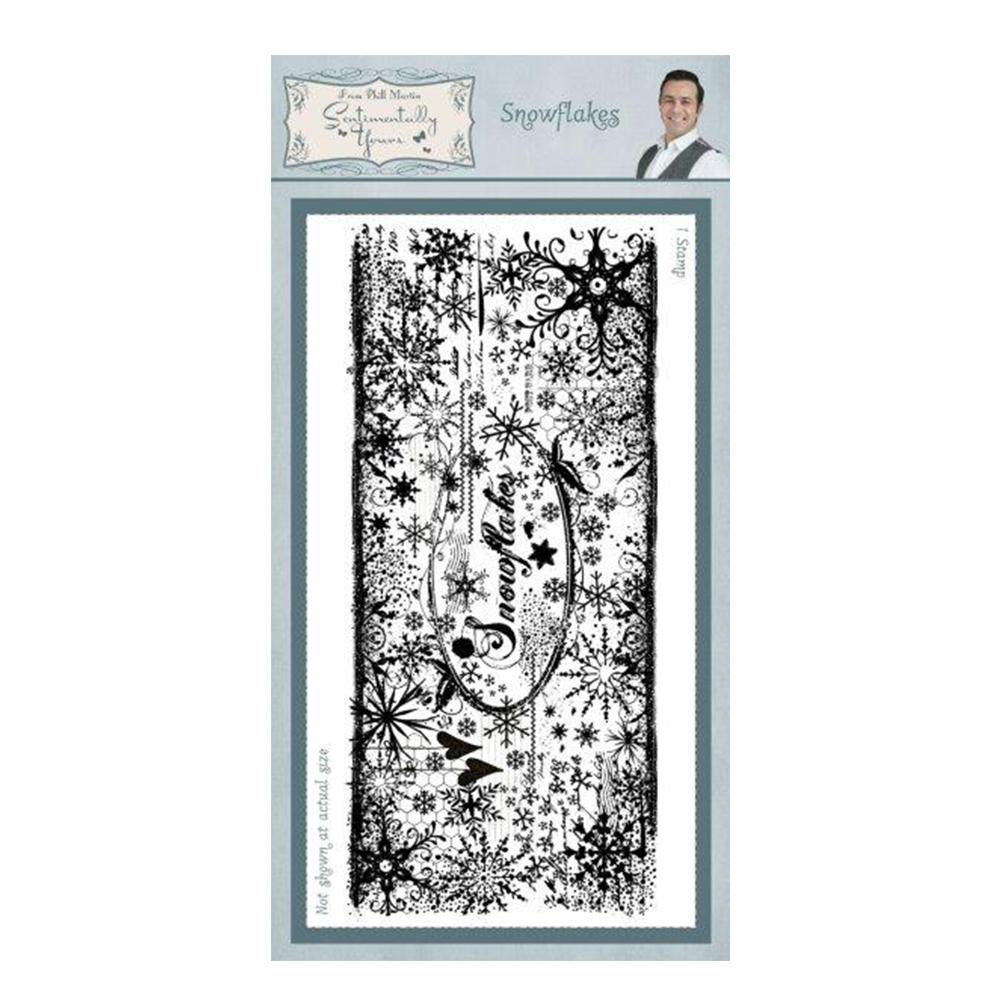 Creative Expressions - Snowflake Pre Cut Rubber Stamp