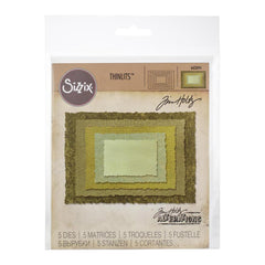 Sizzix Thinlits Die Set by Tim Holtz 5 pack - Stacked Deckle