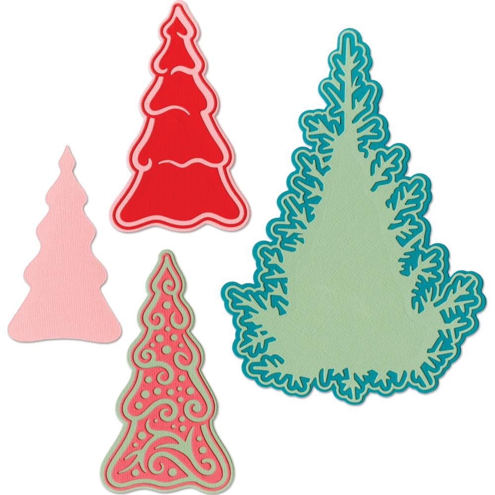 Sizzix - Thinlits Die - Fairy Set Background Trees