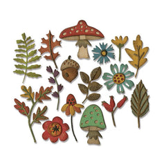 Sizzix Thinlits Dies By Tim Holtz 16 pack Funky Foliage