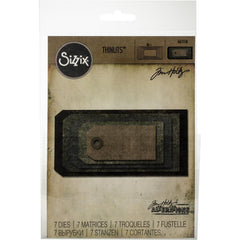 Sizzix Thinlits Dies By Tim Holtz 7/Pkg - Stacked Tags
