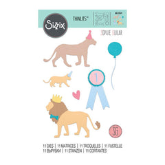 Sizzix Thinlits Dies By Sophie Guilar 11 pack Party Cats