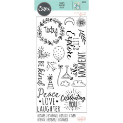 Sizzix - Clear Acrylic Stamps - Everyday Sentiments