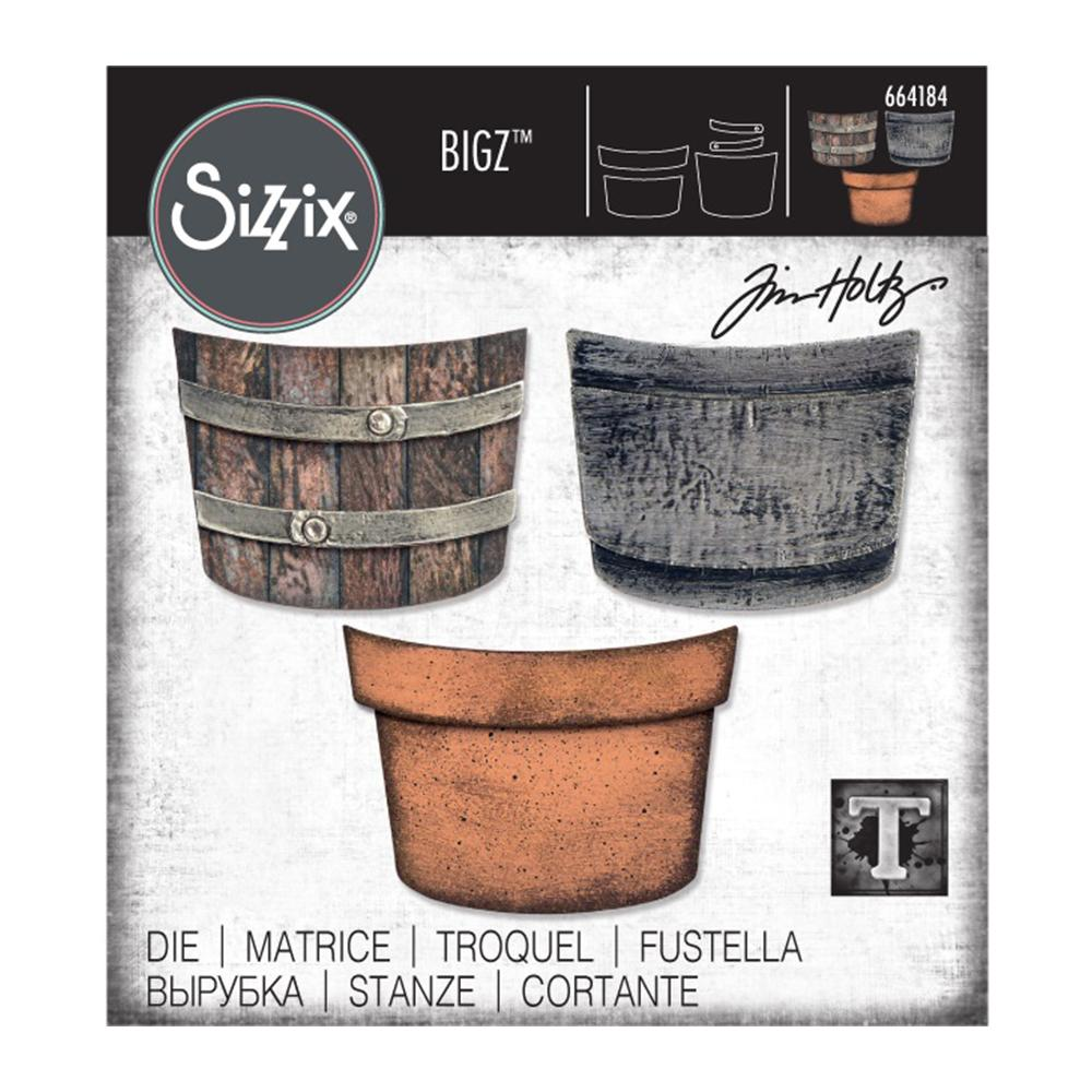 Sizzix Bigz Die By Tim Holtz Potted