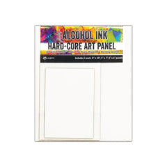 Tim Holtz Alcohol Ink Hard Core Art Panel 3 per package - Rectangle 4X6in, 5X7in, 8X10in 1 Each