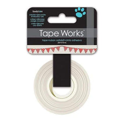 Tape Works Tape .625 Inch X50' - Bunting Red