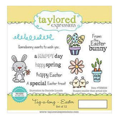 Taylored Expressions Cling Stamps 8.5In. X5.75In.  Tag-Along - Easter