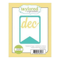 Taylored Expressions Die Taylored Expressions Die Pockets & Pages 3In.X4in. Banner