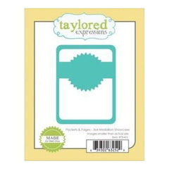 Taylored Expressions Die Pockets & Pages 3In.X4in. Medallion Showcase