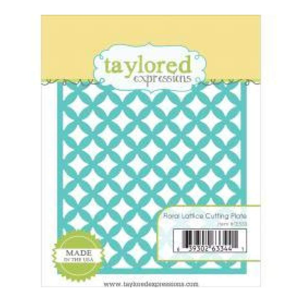 Taylored Expressions Dies Floral Lattice Cutting Plate