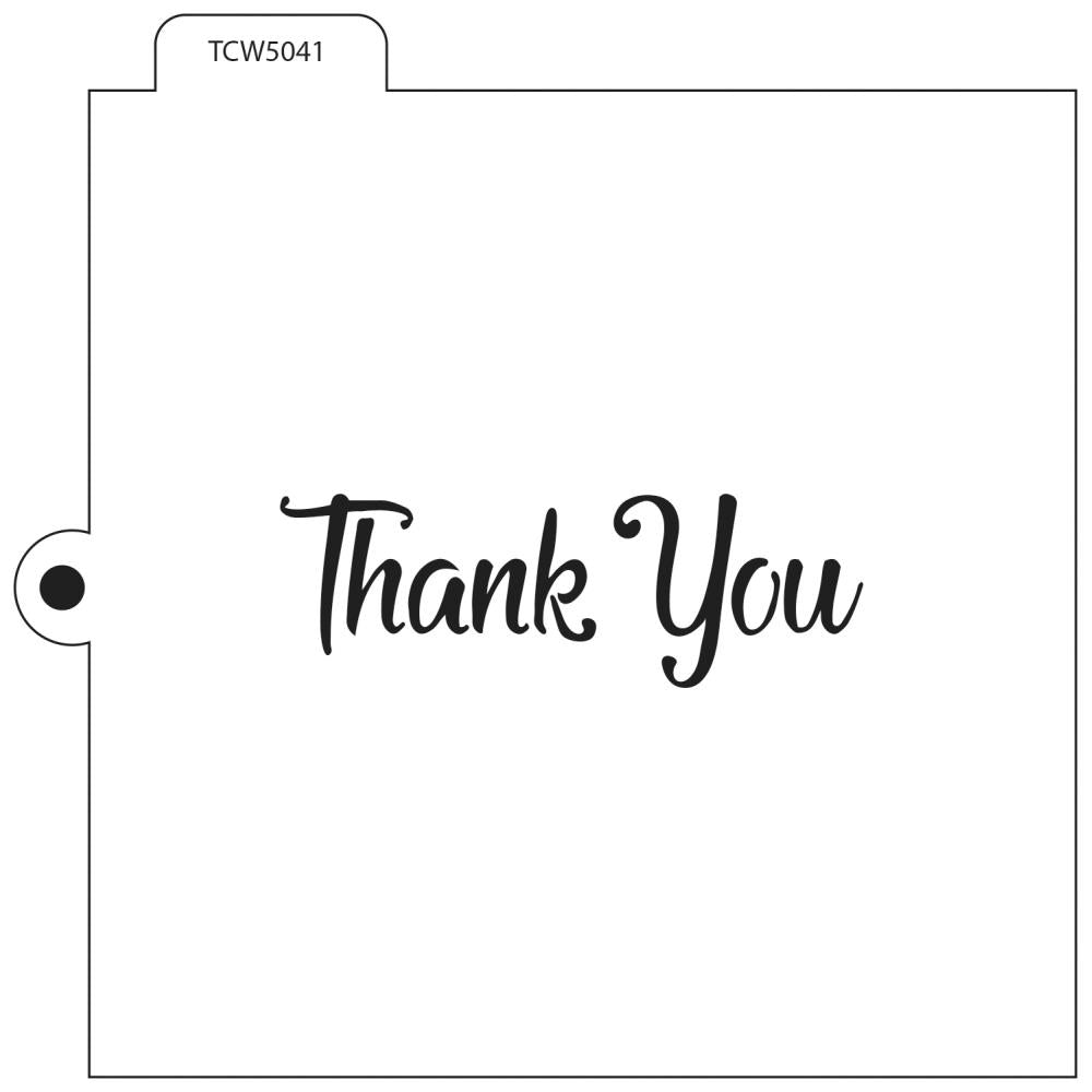 Crafters Workshop Cookie & Cake Stencils 5.5 inch X5.5 inch - Thank You