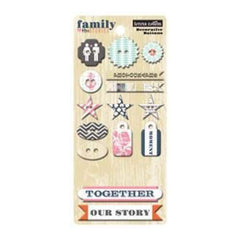 Teresa Collins - Family Stories - Chipboard Buttons