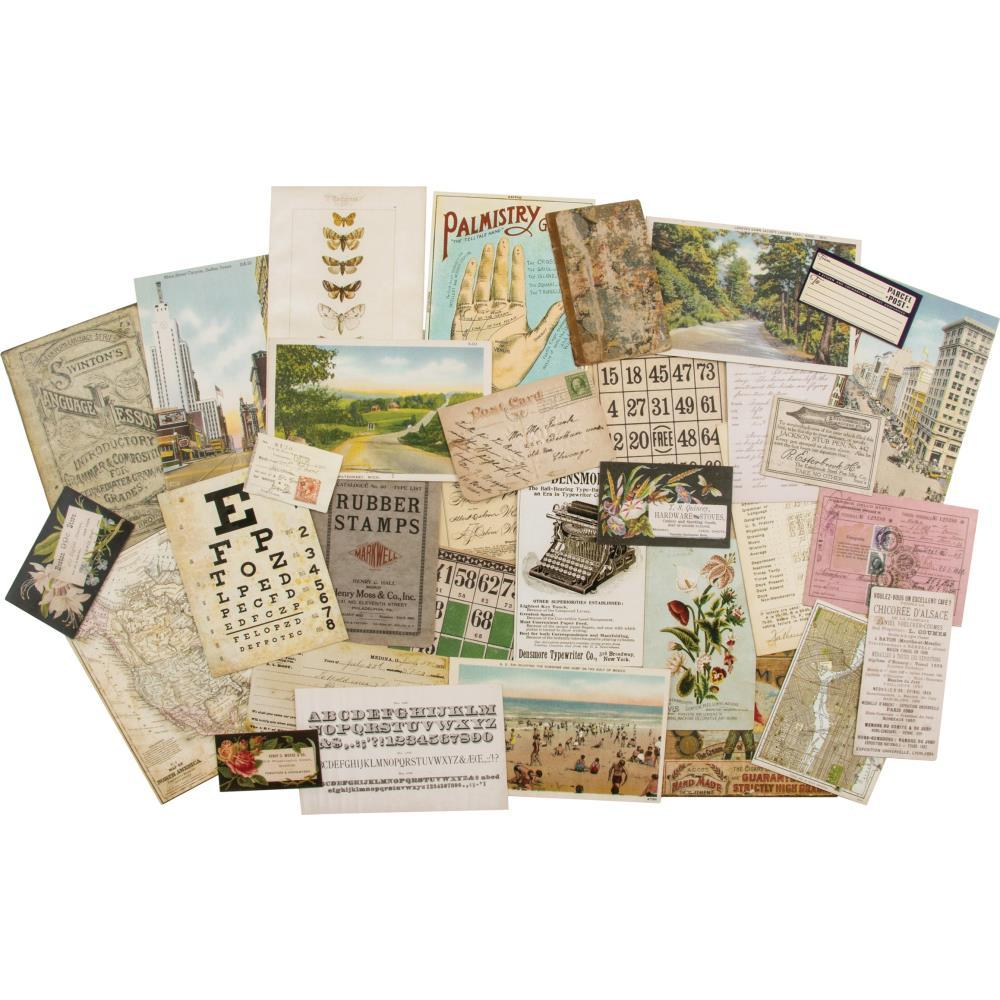Tim Holtz - Idea-Ology Layers Remnants 33 pack Paper