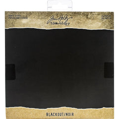 Tim Holtz - Idea-Ology Kraft Stock Cardstock Pad 8 inch X8 inch 24 pack - Blackout