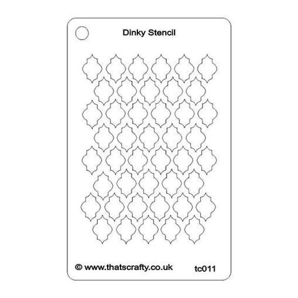 That's Crafty Dinky Stencil 3In.X4.75In. Quarterfoil 1 Background