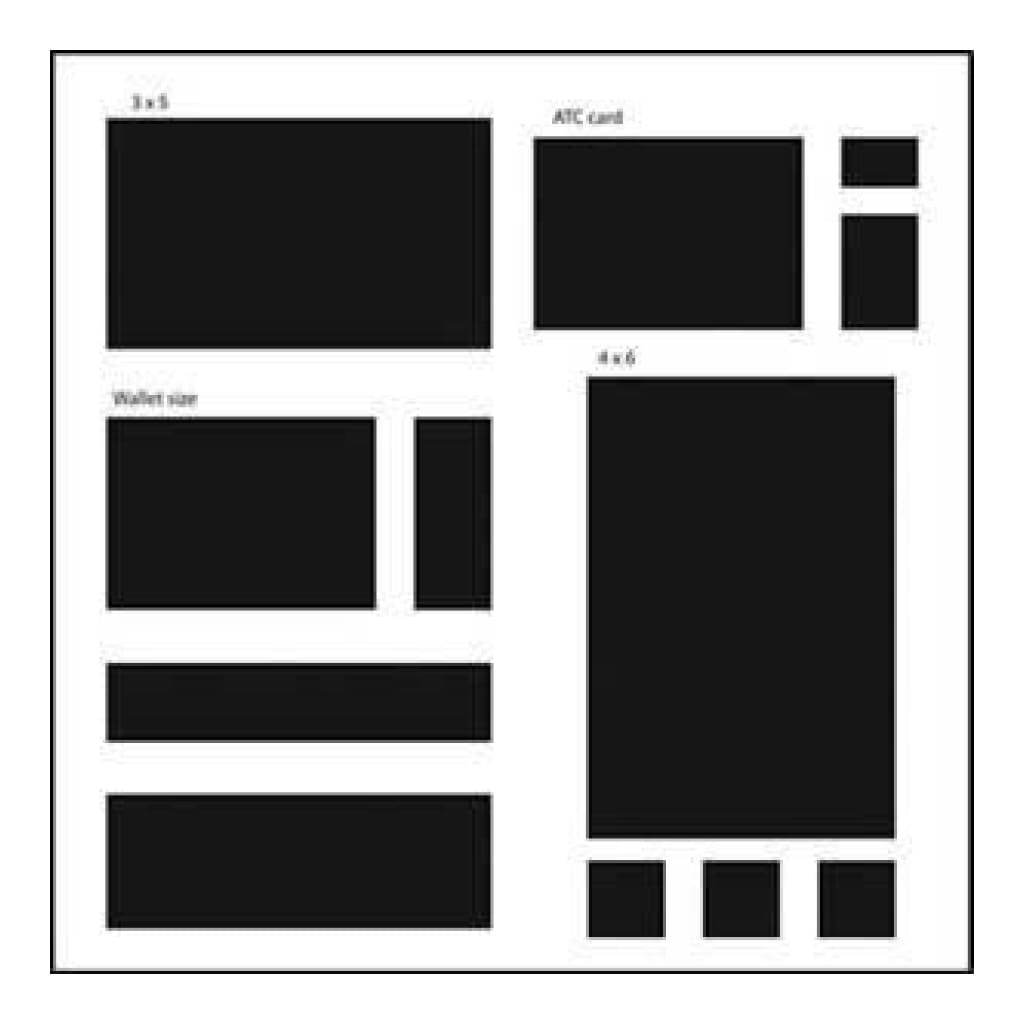 The Crafters Workshop - 12X12 Template Basic Rectangles
