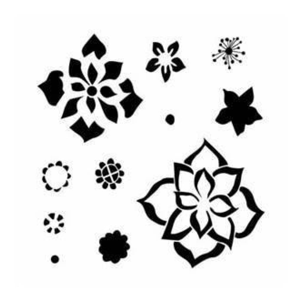 The Crafters Workshop - 6X6 Template - Layered Flowers
