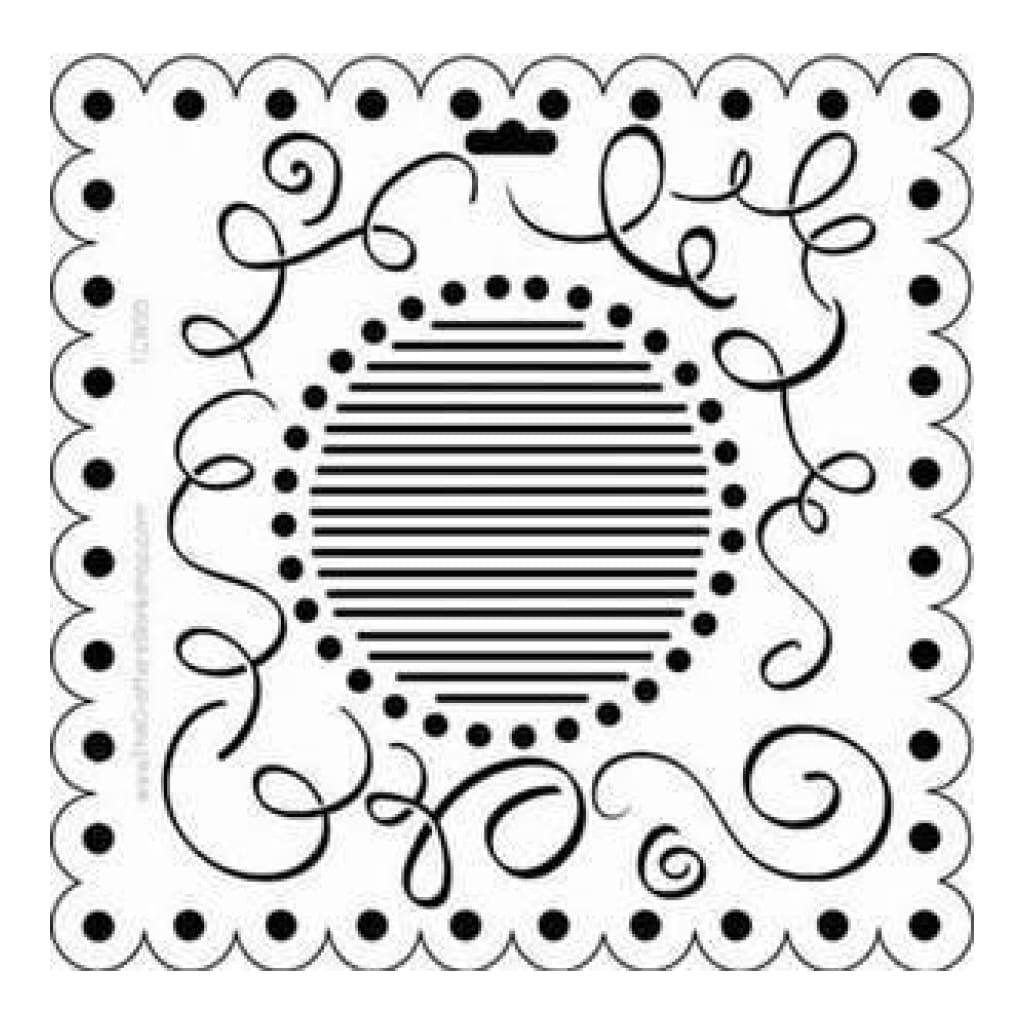 The Crafters Workshop 6X6 Template - Scallop Swirls