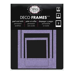 Thermoweb - Glitter Dust Frame Assortment 10 Pack - Polaroid Purple