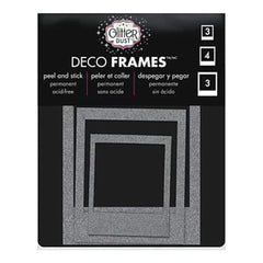 Thermoweb - Glitter Dust Frame Assortment 10 Pack - Polaroid Silver