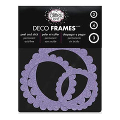 Thermoweb - Glitter Dust Frame Assortment 10 Pack - Scallop Circle Purple